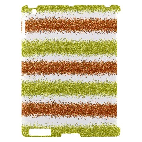 Metallic Gold Glitter Stripes Apple iPad 2 Hardshell Case (Compatible with Smart Cover)