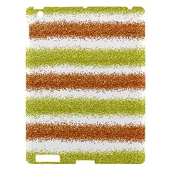 Metallic Gold Glitter Stripes Apple iPad 3/4 Hardshell Case