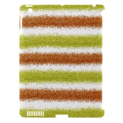 Metallic Gold Glitter Stripes Apple iPad 3/4 Hardshell Case (Compatible with Smart Cover)
