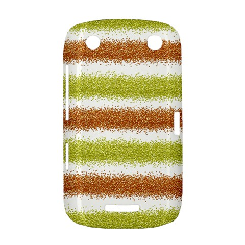 Metallic Gold Glitter Stripes BlackBerry Curve 9380
