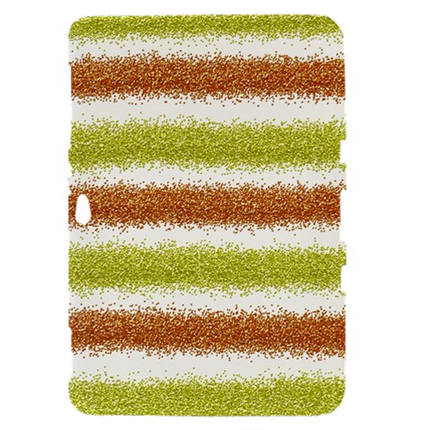 Metallic Gold Glitter Stripes Samsung Galaxy Tab 8.9  P7300 Hardshell Case