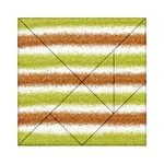 Metallic Gold Glitter Stripes Acrylic Tangram Puzzle (6  x 6 ) Front