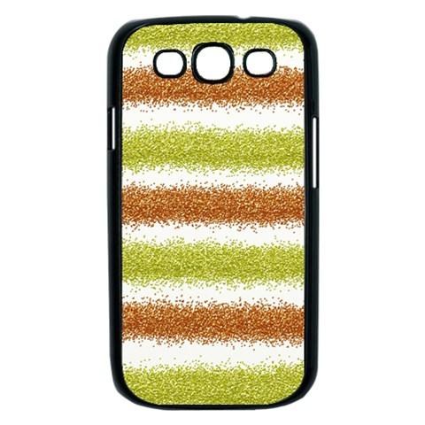 Metallic Gold Glitter Stripes Samsung Galaxy S III Case (Black)