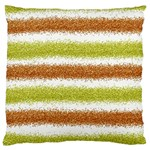 Metallic Gold Glitter Stripes Large Cushion Case (Two Sides) Front