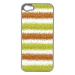 Metallic Gold Glitter Stripes Apple iPhone 5 Case (Silver) Front