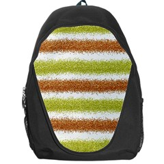 Metallic Gold Glitter Stripes Backpack Bag