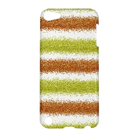 Metallic Gold Glitter Stripes Apple iPod Touch 5 Hardshell Case