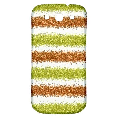 Metallic Gold Glitter Stripes Samsung Galaxy S3 S III Classic Hardshell Back Case