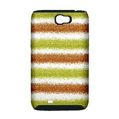 Metallic Gold Glitter Stripes Samsung Galaxy Note 2 Hardshell Case (PC+Silicone)