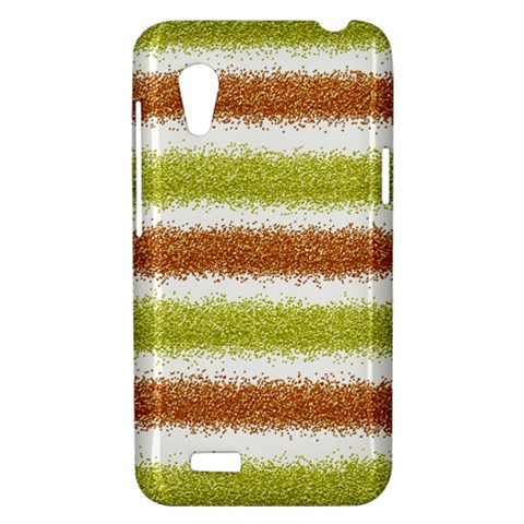 Metallic Gold Glitter Stripes HTC Desire VT (T328T) Hardshell Case
