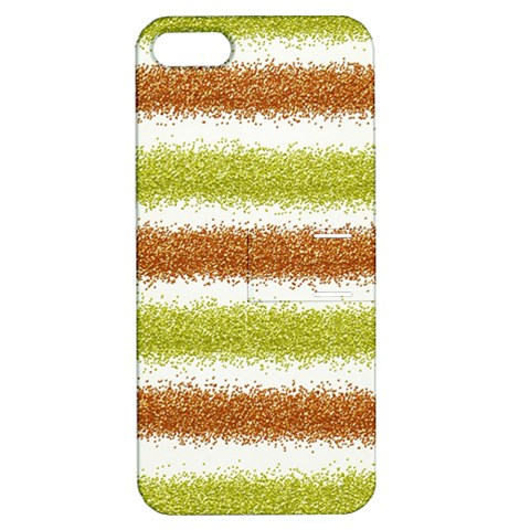 Metallic Gold Glitter Stripes Apple iPhone 5 Hardshell Case with Stand