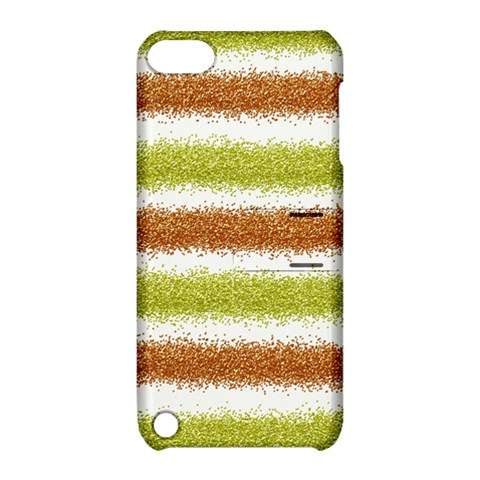 Metallic Gold Glitter Stripes Apple iPod Touch 5 Hardshell Case with Stand