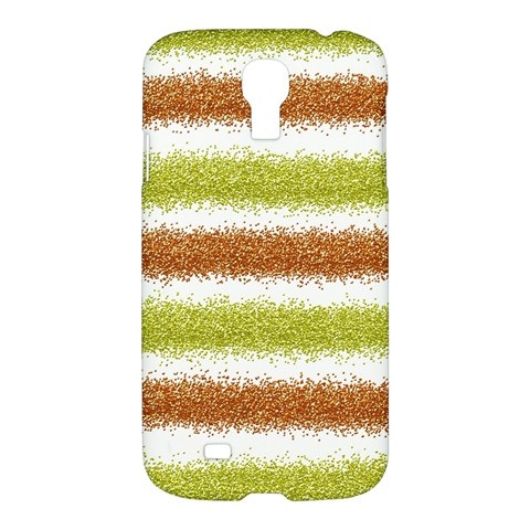 Metallic Gold Glitter Stripes Samsung Galaxy S4 I9500/I9505 Hardshell Case