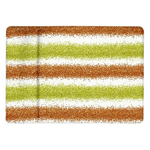 Metallic Gold Glitter Stripes Samsung Galaxy Tab 10.1  P7500 Flip Case