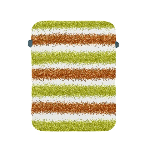Metallic Gold Glitter Stripes Apple iPad 2/3/4 Protective Soft Cases