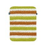 Metallic Gold Glitter Stripes Apple iPad 2/3/4 Protective Soft Cases Front