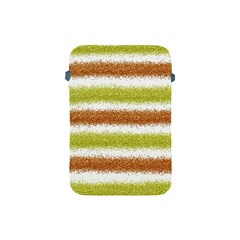 Metallic Gold Glitter Stripes Apple iPad Mini Protective Soft Cases