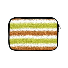 Metallic Gold Glitter Stripes Apple iPad Mini Zipper Cases