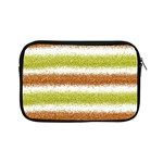 Metallic Gold Glitter Stripes Apple iPad Mini Zipper Cases Front