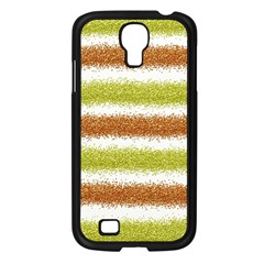 Metallic Gold Glitter Stripes Samsung Galaxy S4 I9500/ I9505 Case (Black)