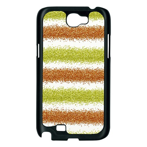 Metallic Gold Glitter Stripes Samsung Galaxy Note 2 Case (Black)