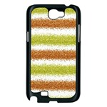 Metallic Gold Glitter Stripes Samsung Galaxy Note 2 Case (Black) Front