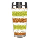 Metallic Gold Glitter Stripes Stainless Steel Travel Tumblers Right