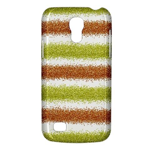 Metallic Gold Glitter Stripes Galaxy S4 Mini