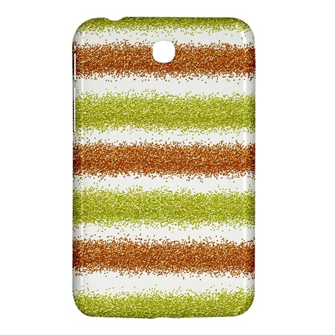 Metallic Gold Glitter Stripes Samsung Galaxy Tab 3 (7 ) P3200 Hardshell Case