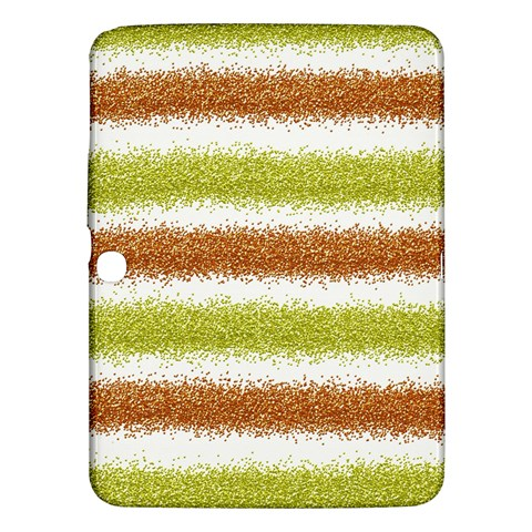 Metallic Gold Glitter Stripes Samsung Galaxy Tab 3 (10.1 ) P5200 Hardshell Case
