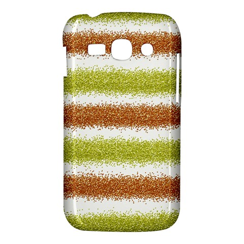 Metallic Gold Glitter Stripes Samsung Galaxy Ace 3 S7272 Hardshell Case