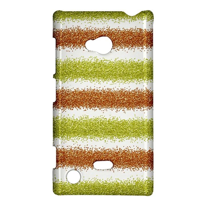 Metallic Gold Glitter Stripes Nokia Lumia 720