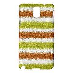 Metallic Gold Glitter Stripes Samsung Galaxy Note 3 N9005 Hardshell Case
