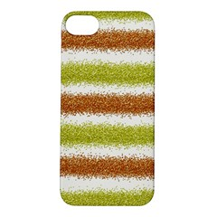 Metallic Gold Glitter Stripes Apple iPhone 5S/ SE Hardshell Case