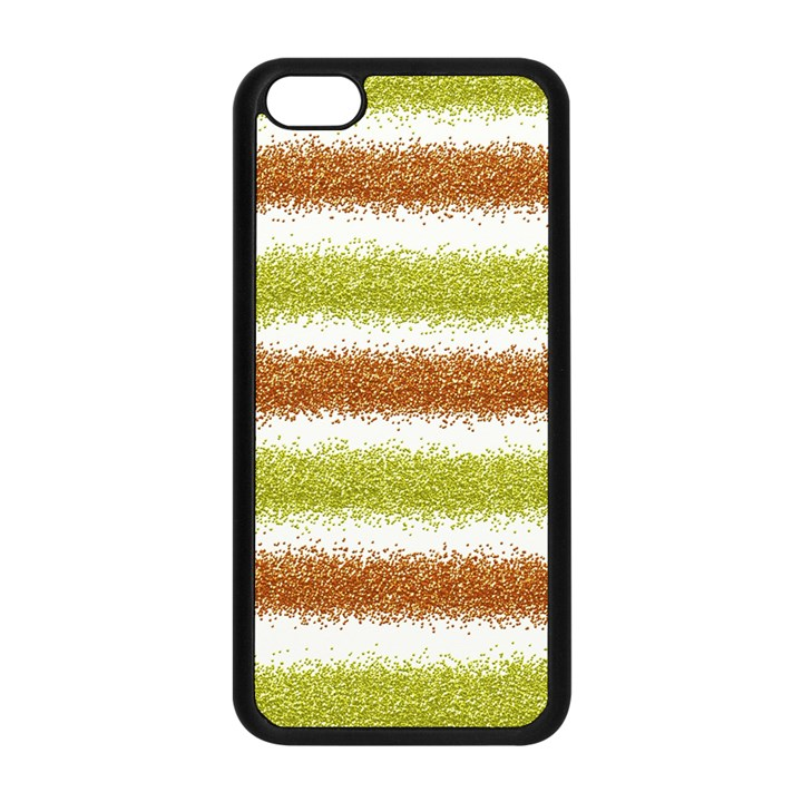 Metallic Gold Glitter Stripes Apple iPhone 5C Seamless Case (Black)
