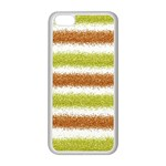 Metallic Gold Glitter Stripes Apple iPhone 5C Seamless Case (White) Front