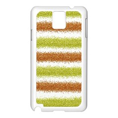 Metallic Gold Glitter Stripes Samsung Galaxy Note 3 N9005 Case (White)