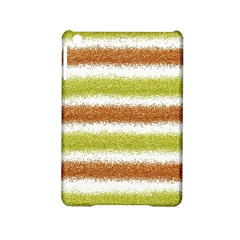 Metallic Gold Glitter Stripes iPad Mini 2 Hardshell Cases