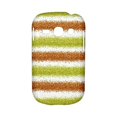 Metallic Gold Glitter Stripes Samsung Galaxy S6810 Hardshell Case