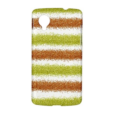 Metallic Gold Glitter Stripes LG Nexus 5