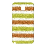 Metallic Gold Glitter Stripes Samsung Galaxy Note 3 N9005 Hardshell Back Case Front