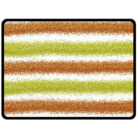 Metallic Gold Glitter Stripes Double Sided Fleece Blanket (Large)