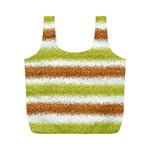 Metallic Gold Glitter Stripes Full Print Recycle Bags (M)  Front
