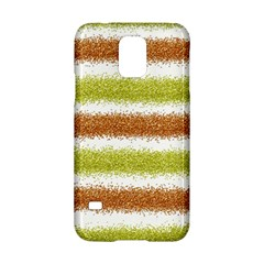 Metallic Gold Glitter Stripes Samsung Galaxy S5 Hardshell Case