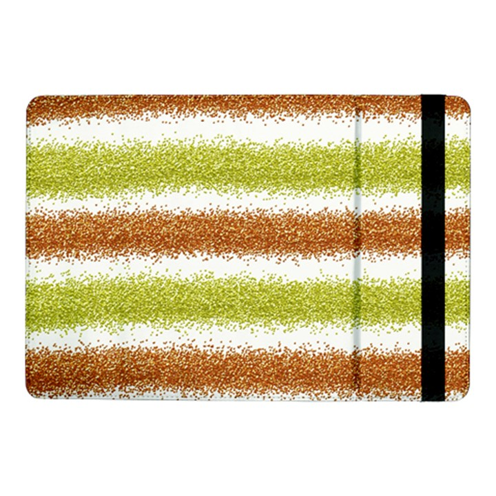 Metallic Gold Glitter Stripes Samsung Galaxy Tab Pro 10.1  Flip Case