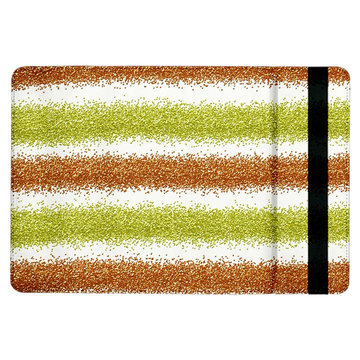 Metallic Gold Glitter Stripes iPad Air Flip
