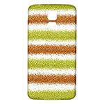 Metallic Gold Glitter Stripes Samsung Galaxy S5 Back Case (White) Front