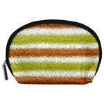 Metallic Gold Glitter Stripes Accessory Pouches (Large)  Front