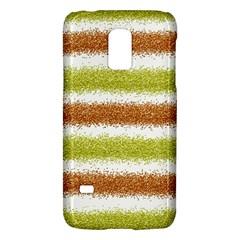 Metallic Gold Glitter Stripes Galaxy S5 Mini