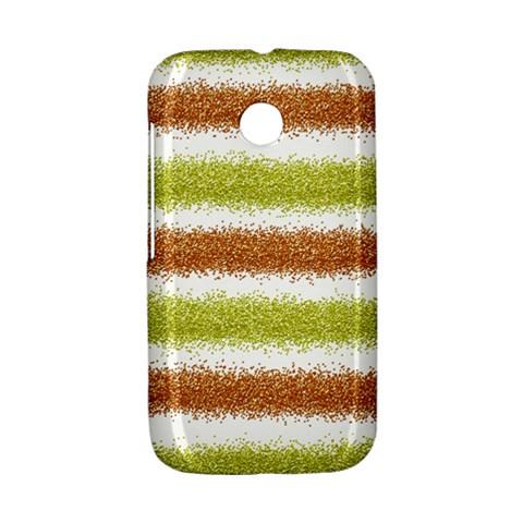 Metallic Gold Glitter Stripes Motorola Moto E